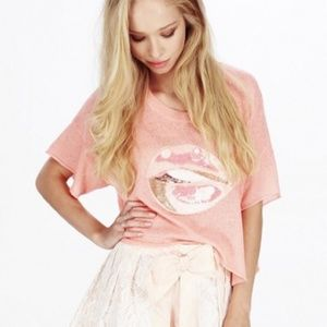 Wildfox Vacation Lips White Label Sweater